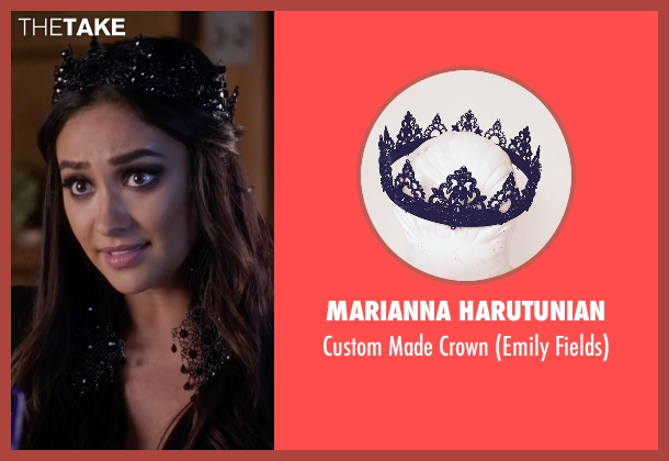 Marianna Harutunian black crown from Pretty Little Liars seen with Emily Fields (Shay Mitchell)