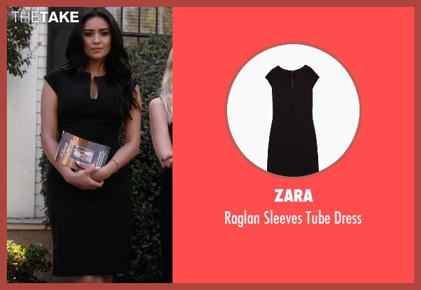 Zara black dress from Pretty Little Liars seen with Emily Fields (Shay Mitchell)