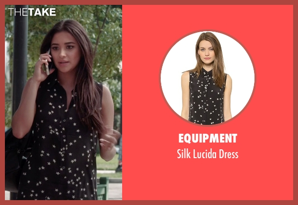 Equipment black dress from Pretty Little Liars seen with Emily Fields (Shay Mitchell)