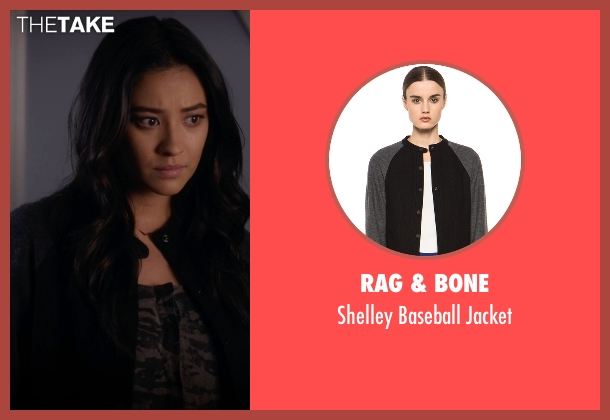 Rag & Bone black jacket from Pretty Little Liars seen with Emily Fields (Shay Mitchell)