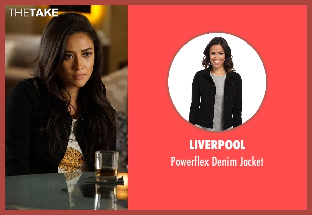 Liverpool black jacket from Pretty Little Liars seen with Emily Fields (Shay Mitchell)