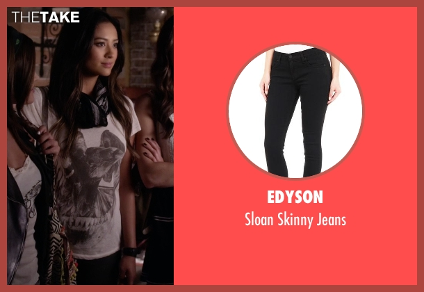 Edyson black jeans from Pretty Little Liars seen with Emily Fields (Shay Mitchell)