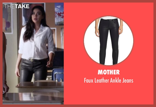 Mother black jeans from Pretty Little Liars seen with Emily Fields (Shay Mitchell)