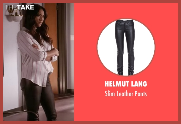 Helmut Lang black pants from Pretty Little Liars seen with Emily Fields (Shay Mitchell)