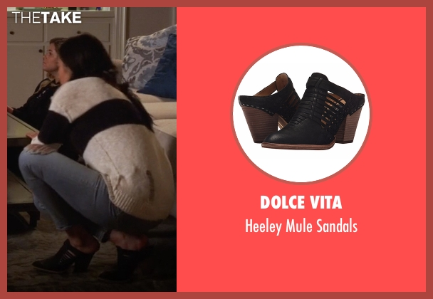 Dolce Vita black sandals from Pretty Little Liars seen with Emily Fields (Shay Mitchell)