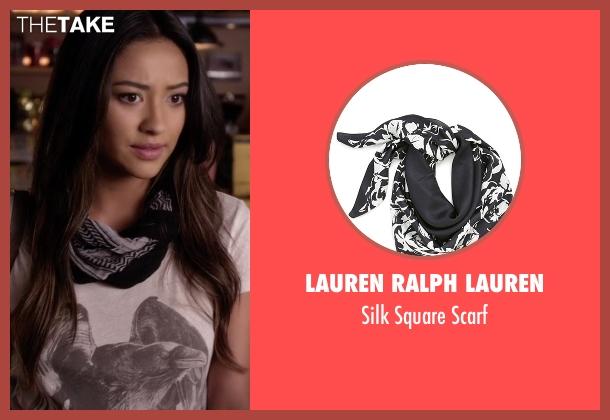 Lauren Ralph Lauren black scarf from Pretty Little Liars seen with Emily Fields (Shay Mitchell)
