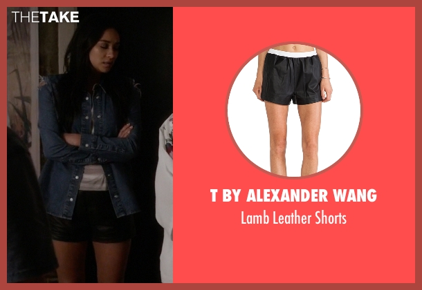 T By Alexander Wang black shorts from Pretty Little Liars seen with Emily Fields (Shay Mitchell)