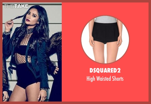 Dsquared2 black shorts from Pretty Little Liars seen with Emily Fields (Shay Mitchell)