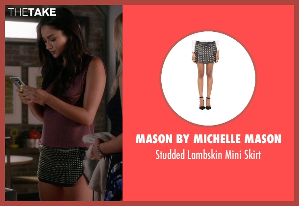 Mason By Michelle Mason black skirt from Pretty Little Liars seen with Emily Fields (Shay Mitchell)