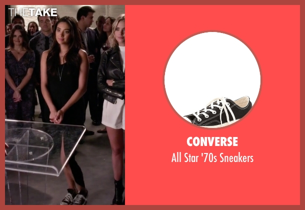 Converse black sneakers from Pretty Little Liars seen with Emily Fields (Shay Mitchell)