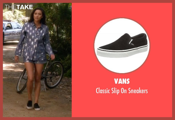 Vans black sneakers from Pretty Little Liars seen with Emily Fields (Shay Mitchell)