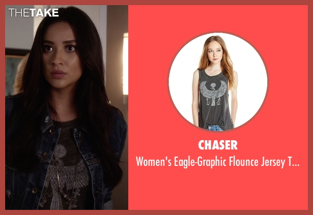 Chaser black top from Pretty Little Liars seen with Emily Fields (Shay Mitchell)