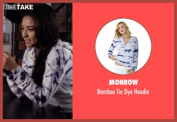 Monrow  blue hoodie from Pretty Little Liars seen with Emily Fields (Shay Mitchell)