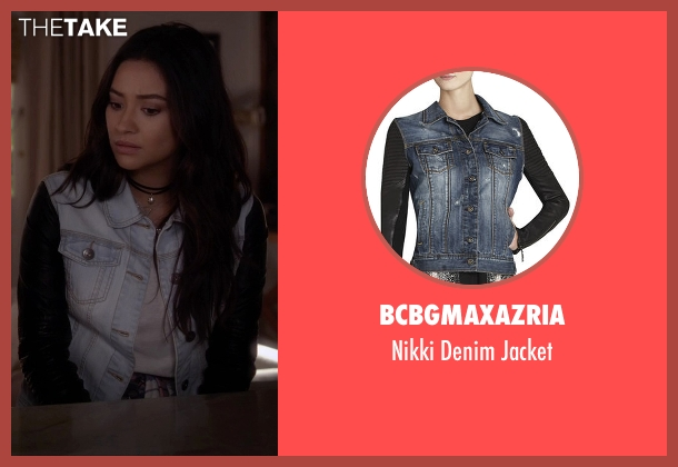 BCBGMAXAZRIA blue jacket from Pretty Little Liars seen with Emily Fields (Shay Mitchell)