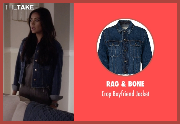 Rag & Bone blue jacket from Pretty Little Liars seen with Emily Fields (Shay Mitchell)