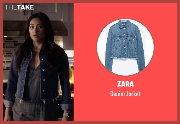 Zara blue jacket from Pretty Little Liars seen with Emily Fields (Shay Mitchell)