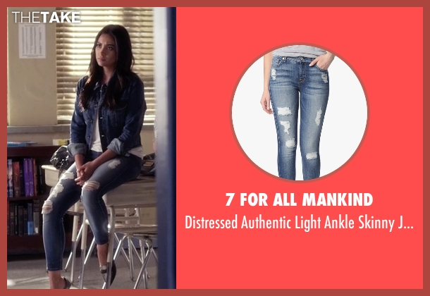 7 For All Mankind blue jeans from Pretty Little Liars seen with Emily Fields (Shay Mitchell)