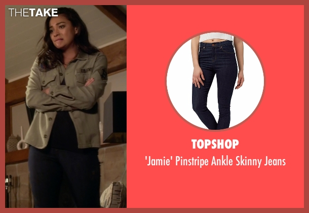 Topshop blue jeans from Pretty Little Liars seen with Emily Fields (Shay Mitchell)