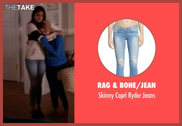 Rag & Bone/Jean blue jeans from Pretty Little Liars seen with Emily Fields (Shay Mitchell)