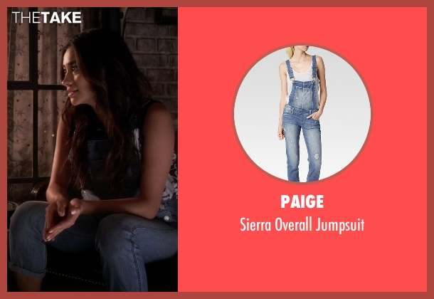 Paige blue jumpsuit from Pretty Little Liars seen with Emily Fields (Shay Mitchell)