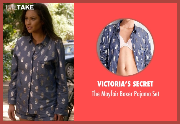 Victoria's Secret blue set from Pretty Little Liars seen with Emily Fields (Shay Mitchell)