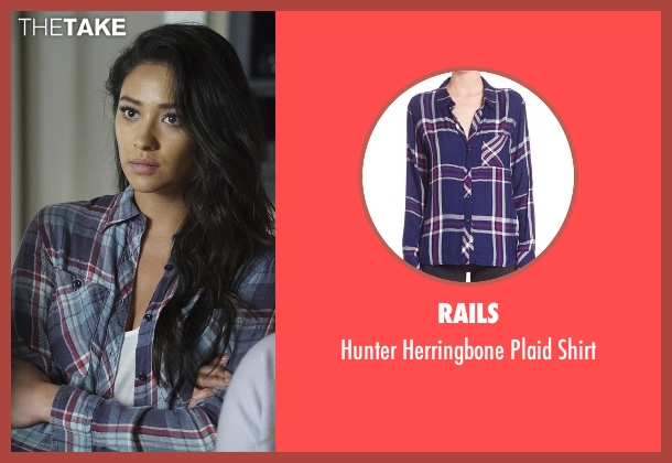 Rails blue shirt from Pretty Little Liars seen with Emily Fields (Shay Mitchell)