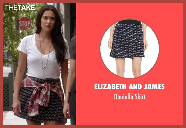 Elizabeth and James blue skirt from Pretty Little Liars seen with Emily Fields (Shay Mitchell)