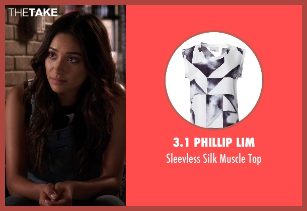 3.1 Phillip Lim blue top from Pretty Little Liars seen with Emily Fields (Shay Mitchell)