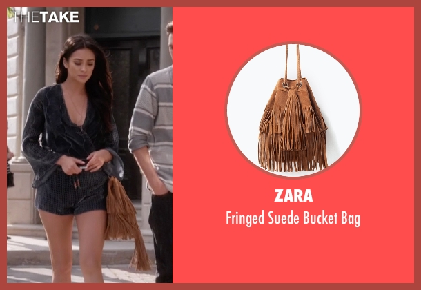 Zara  brown bag from Pretty Little Liars seen with Emily Fields (Shay Mitchell)