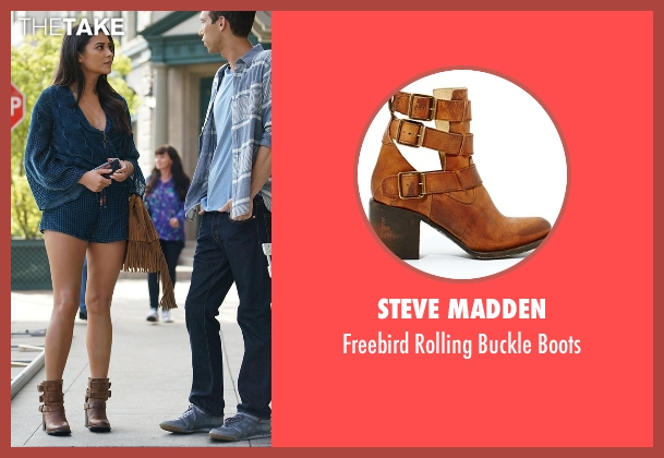 Steve Madden brown boots from Pretty Little Liars seen with Emily Fields (Shay Mitchell)