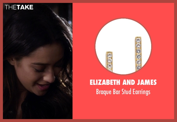Elizabeth and James gold earrings from Pretty Little Liars seen with Emily Fields (Shay Mitchell)