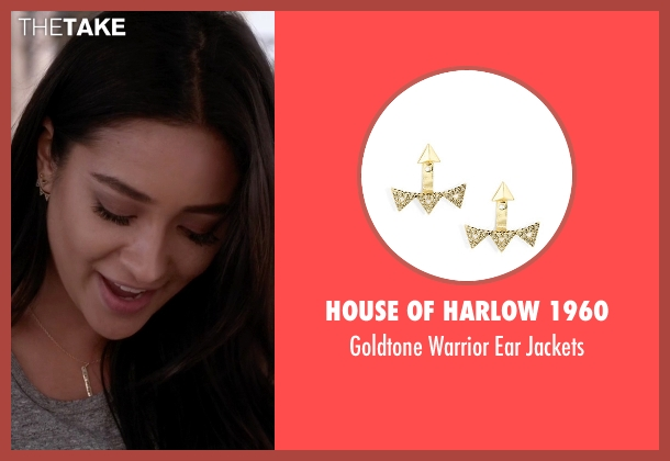 House Of Harlow 1960 gold jackets from Pretty Little Liars seen with Emily Fields (Shay Mitchell)