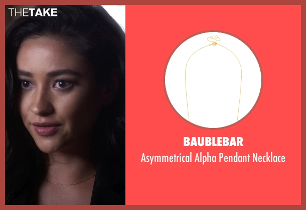 Baublebar gold necklace from Pretty Little Liars seen with Emily Fields (Shay Mitchell)