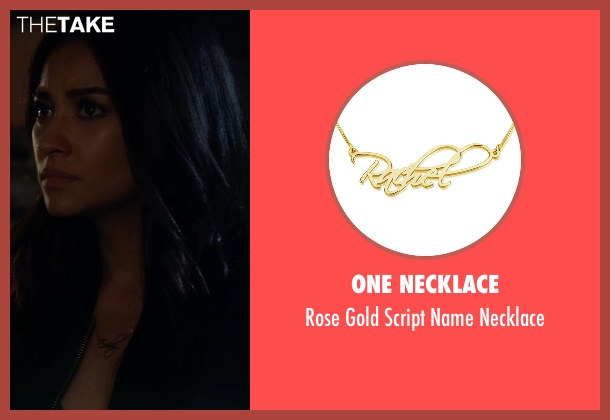 One Necklace gold necklace from Pretty Little Liars seen with Emily Fields (Shay Mitchell)