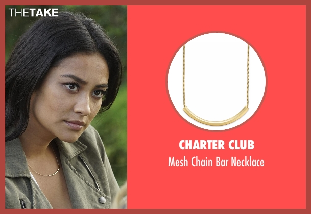 Charter Club gold necklace from Pretty Little Liars seen with Emily Fields (Shay Mitchell)