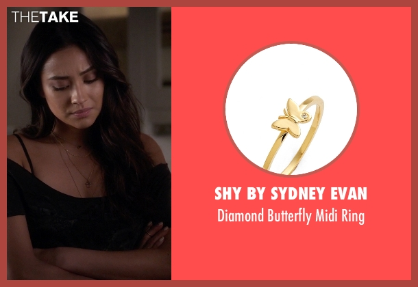 Shy By Sydney Evan gold ring from Pretty Little Liars seen with Emily Fields (Shay Mitchell)
