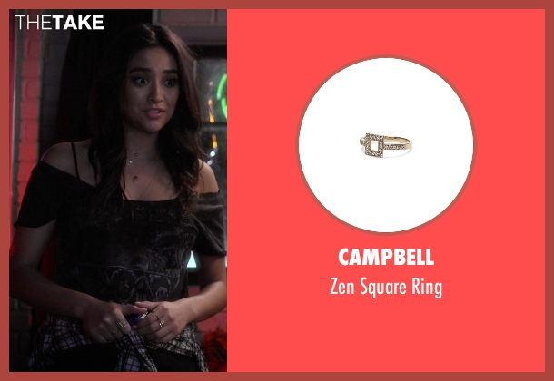 Campbell gold ring from Pretty Little Liars seen with Emily Fields (Shay Mitchell)