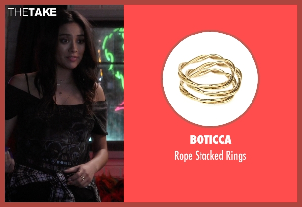 Boticca gold rings from Pretty Little Liars seen with Emily Fields (Shay Mitchell)