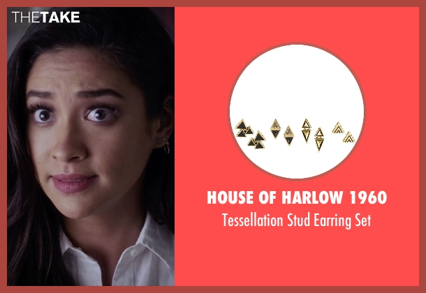 House of Harlow 1960 gold set from Pretty Little Liars seen with Emily Fields (Shay Mitchell)