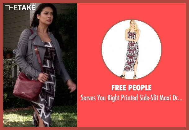 Free People  gray dress from Pretty Little Liars seen with Emily Fields (Shay Mitchell)