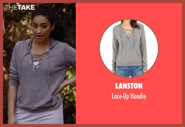 Lanston gray hoodie from Pretty Little Liars seen with Emily Fields (Shay Mitchell)