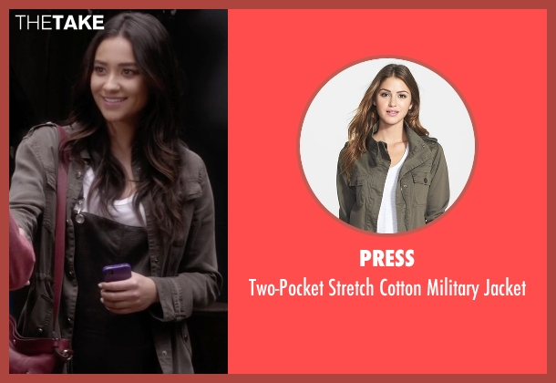 Press gray jacket from Pretty Little Liars seen with Emily Fields (Shay Mitchell)
