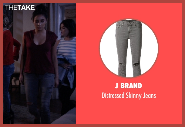 J Brand gray jeans from Pretty Little Liars seen with Emily Fields (Shay Mitchell)