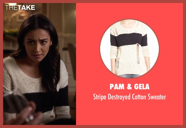 Pam & Gela  gray sweater from Pretty Little Liars seen with Emily Fields (Shay Mitchell)