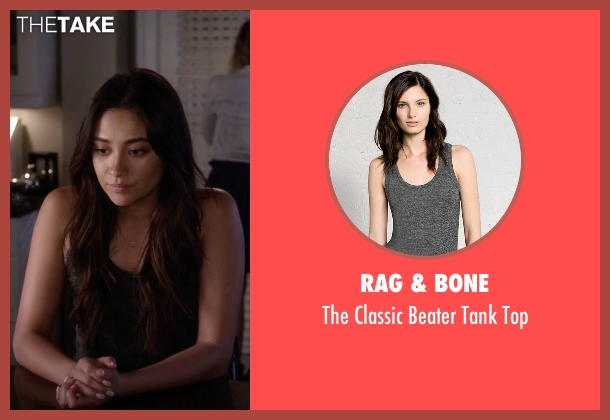 Rag & Bone gray top from Pretty Little Liars seen with Emily Fields (Shay Mitchell)