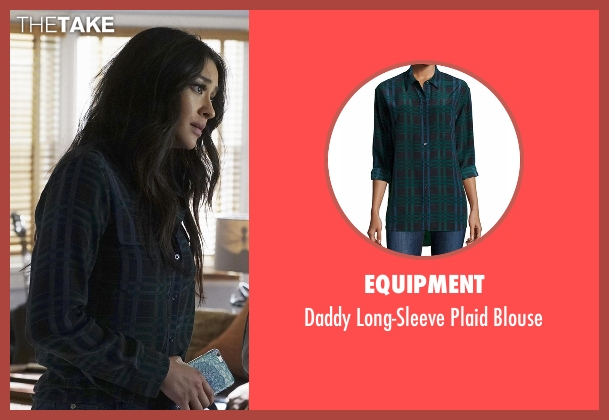 Equipment green blouse from Pretty Little Liars seen with Emily Fields (Shay Mitchell)