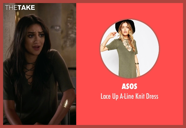 Asos green dress from Pretty Little Liars seen with Emily Fields (Shay Mitchell)