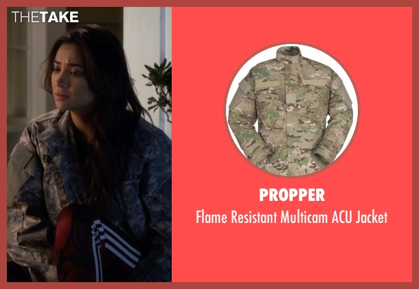 Propper green jacket from Pretty Little Liars seen with Emily Fields (Shay Mitchell)