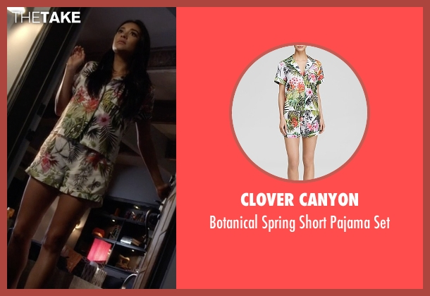 Clover Canyon green set from Pretty Little Liars seen with Emily Fields (Shay Mitchell)