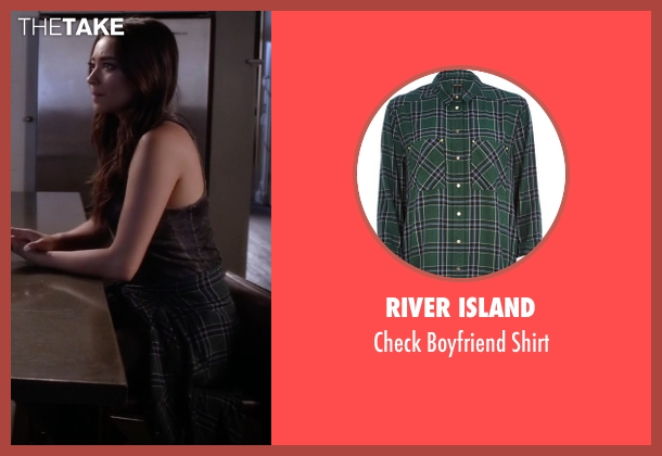 River Island green shirt from Pretty Little Liars seen with Emily Fields (Shay Mitchell)